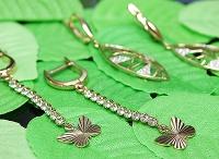 Золотые серьги-бабочки