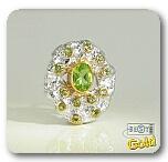 Оригинальное кольцо с ювелирным стеклом