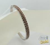 Круглый браслет из серебра