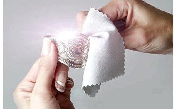 как почистить окисленный браслет