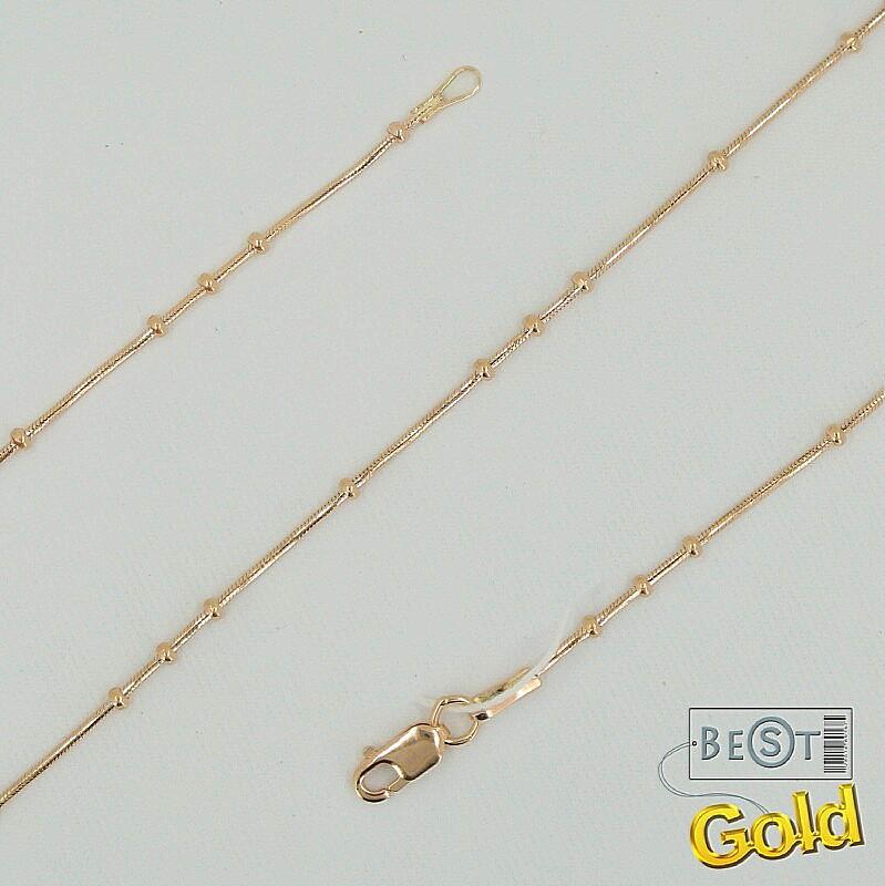 Золотая цепочка. Жемчужное плетение