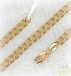 золотая цепочка с кольцами