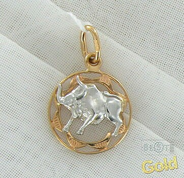 купить золотой кулон со знаком зодиака стрелец