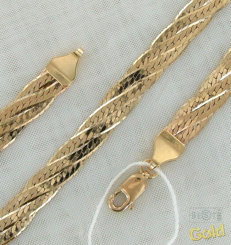 Золотая цепь плетение косичка