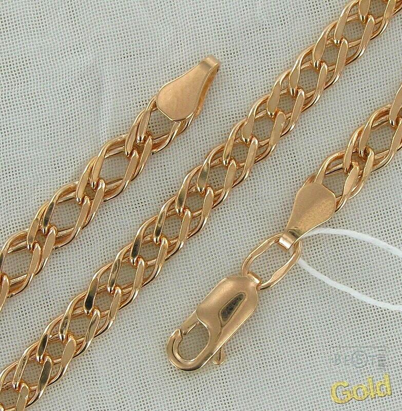Золотые цепочки плетение двойной ромб
