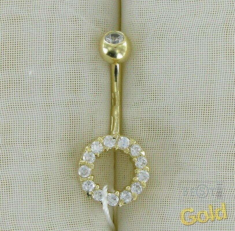 Пирсинг на пупок золото в санлайте