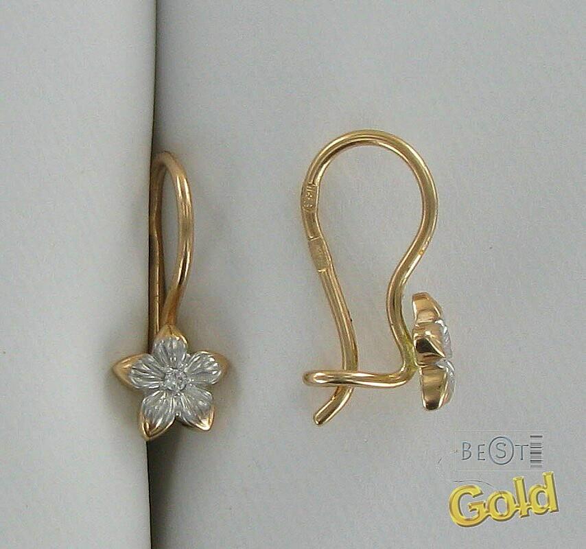 Подарок серьги золотые для девочки