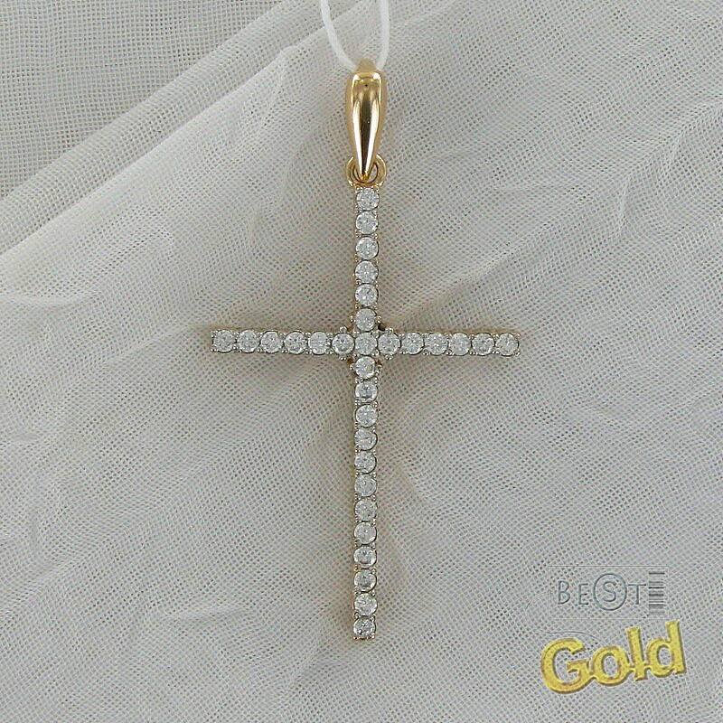 Золотые крестики с камнями фото