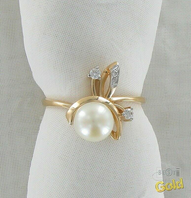Кольцо с жемчужиной своими руками 41