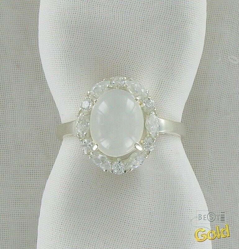 серебрянное кольцо с лунным камнем