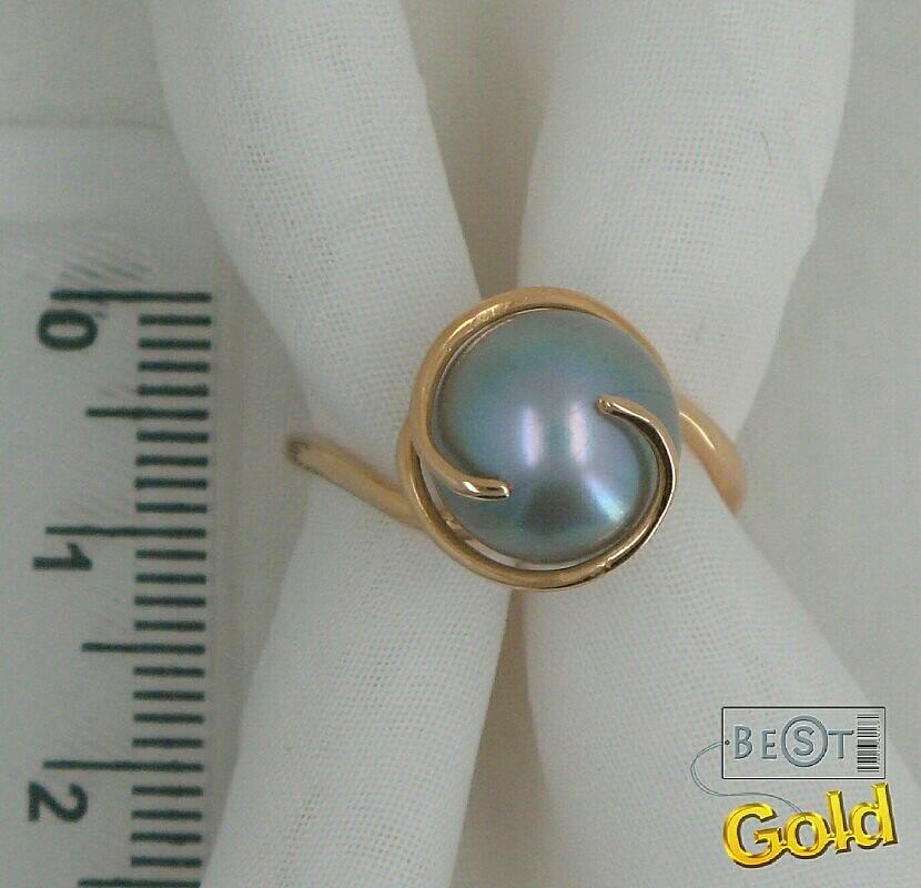 Кольцо с жемчужиной своими руками 91