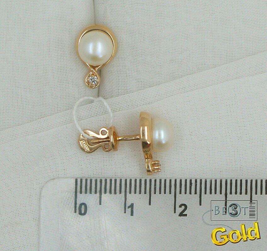 золотые гвоздики с жемчугом фото