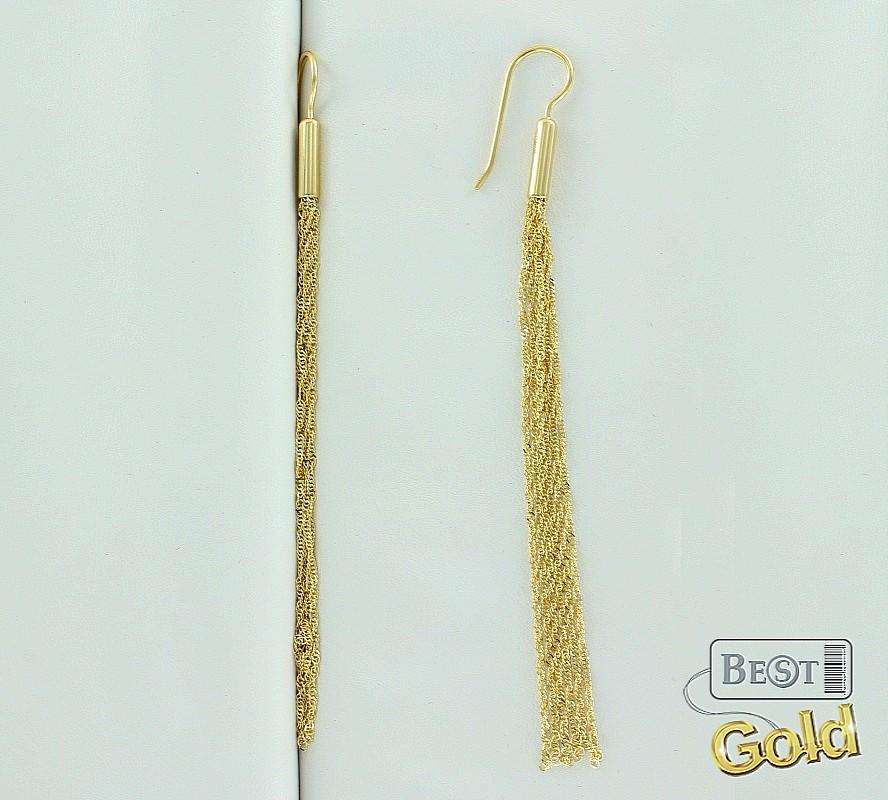 серьги-кисти из золота