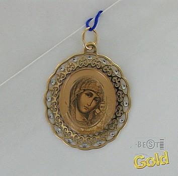 Золотая нательная икона