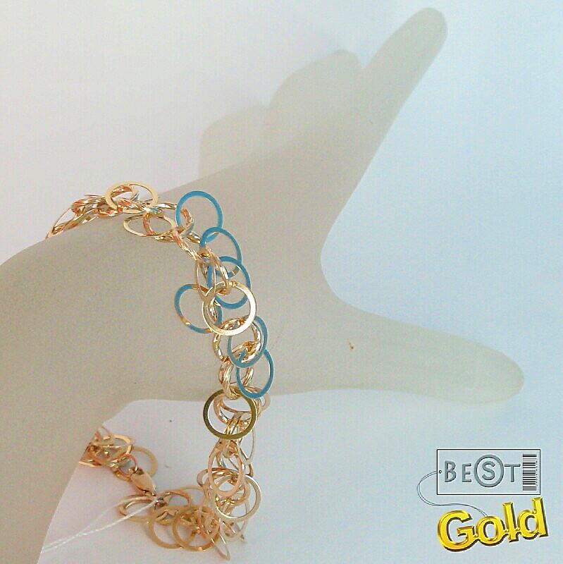 Оригинальный золотой браслет