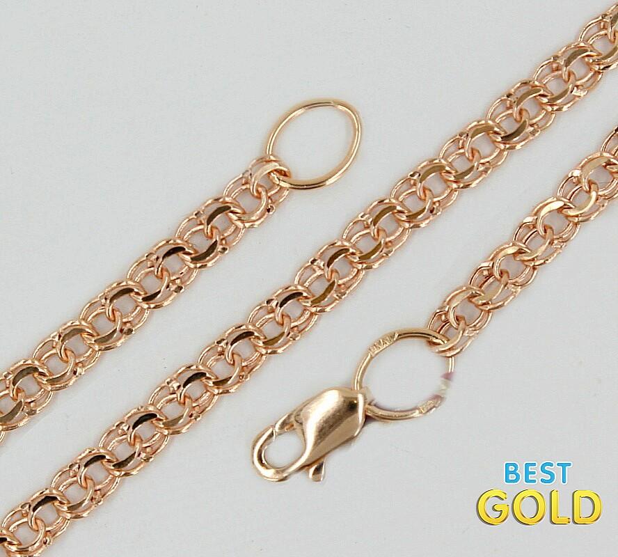 браслет золотой плетение сингапур