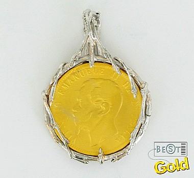 Серебряная монета. Подвеска