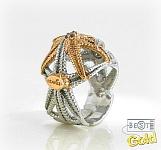 Серебряное кольцо с раухтопазами