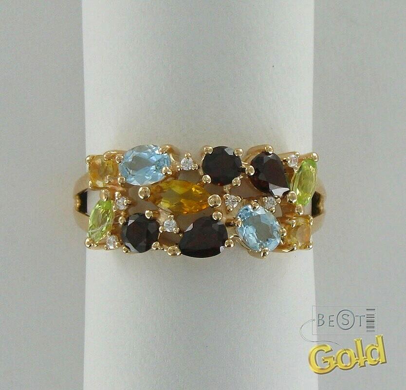 Кольцо с полудрагоценными камнями