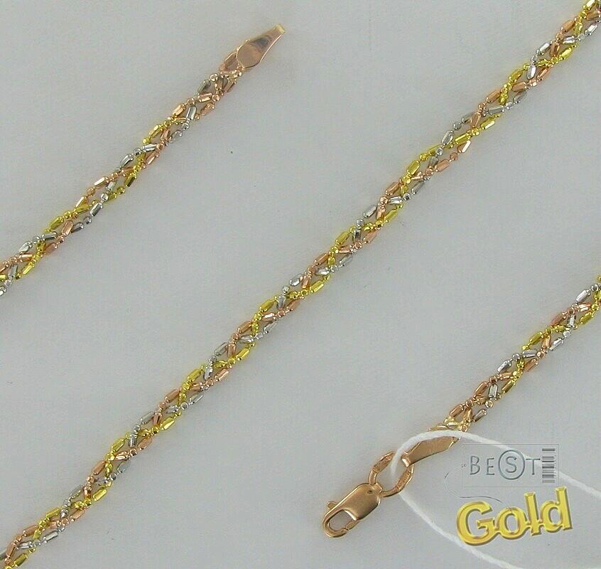 Оригинальное плетение золотой цепочки