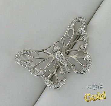 Серебряная брошь. Бабочка