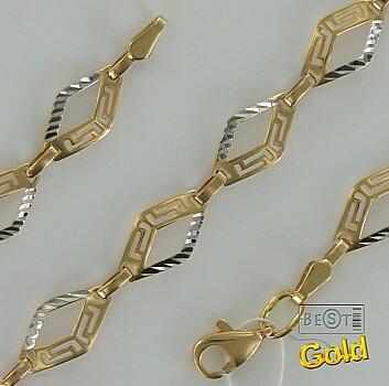 Золотой браслет. Геометрический стиль