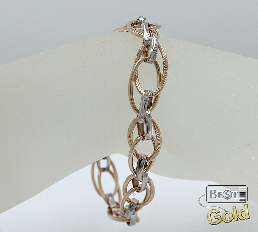 Плетение кольцами браслет