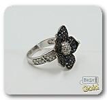 "Золотое кольцо с сапфирами и бриллиантами ""Флёр"""