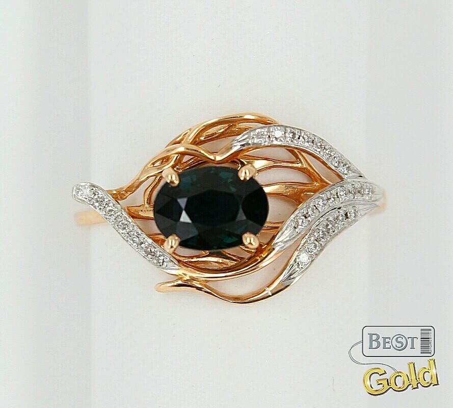 золотые кольца с цитрином