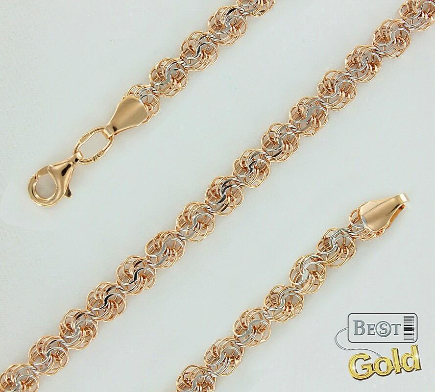 Красивое плетение браслета золотого