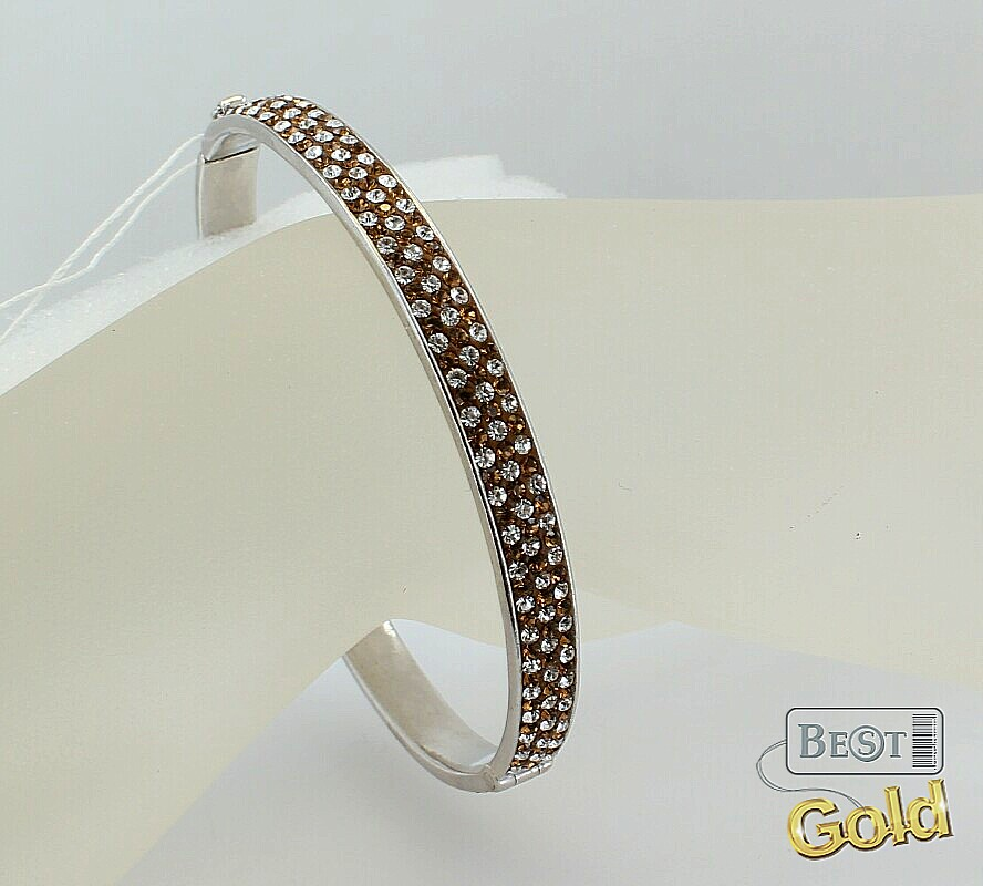 Серебряный браслет с кристаллами Сваровски