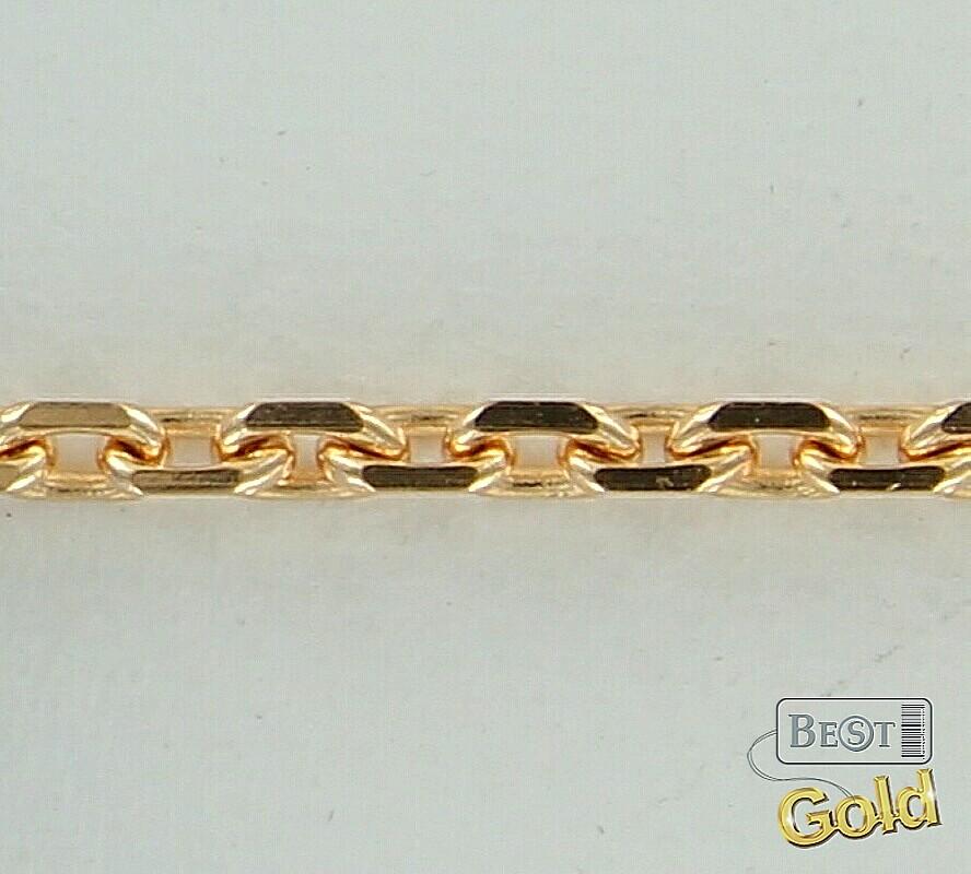 Золотая цепочка якорное плетение