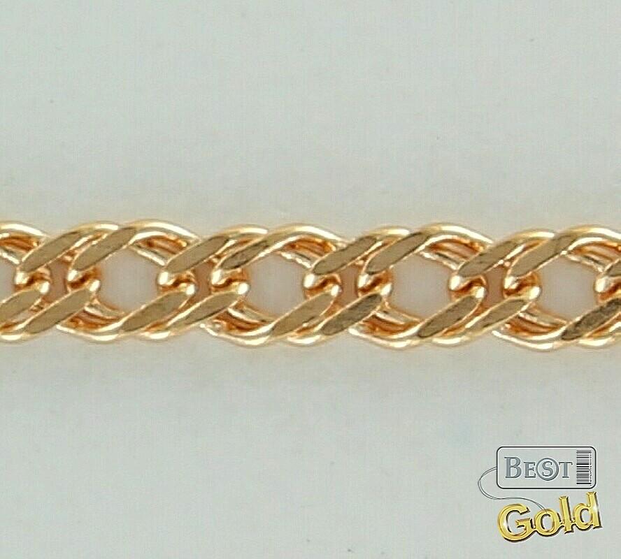 Плетение золотых цепочек ромб