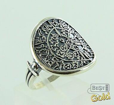 Оригинальное серебряное кольцо с чернением