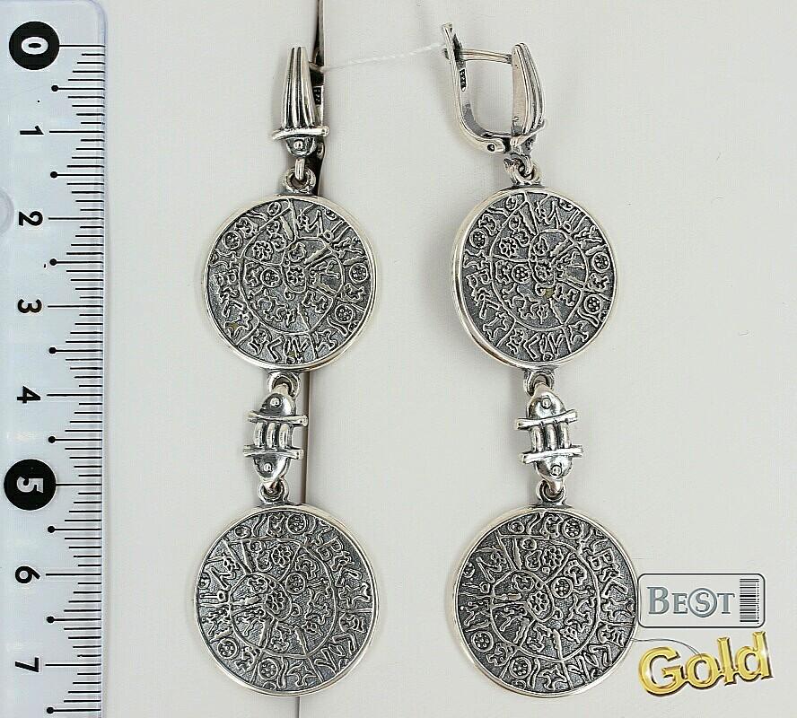 Серебряные серьги стильные