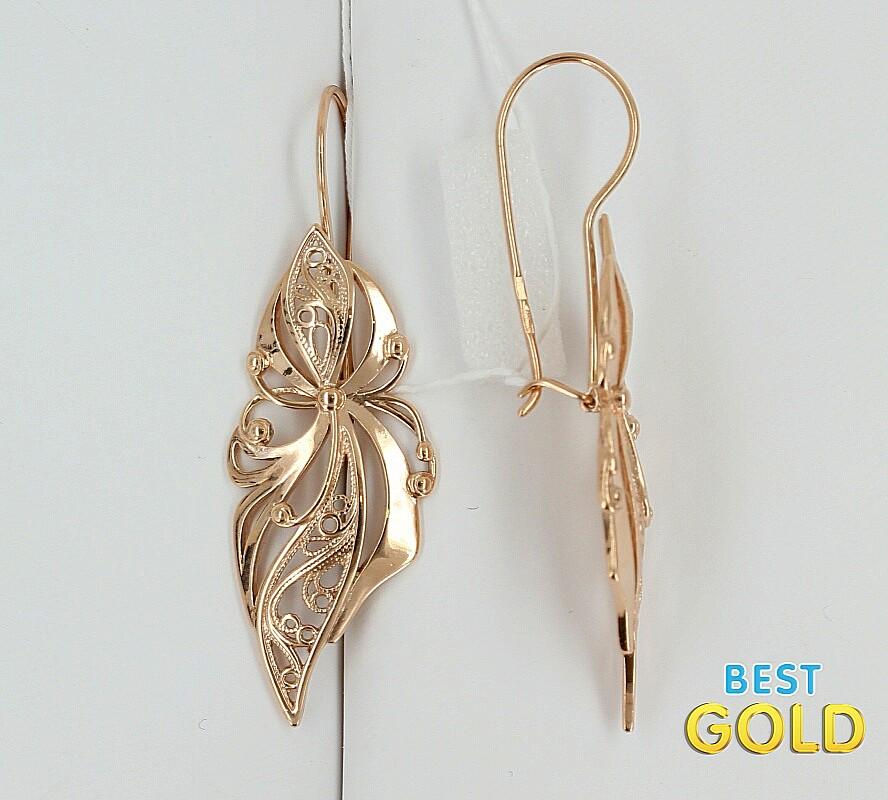 красивые серьги золотые фото