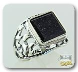 Серебряная печатка с авантюрином