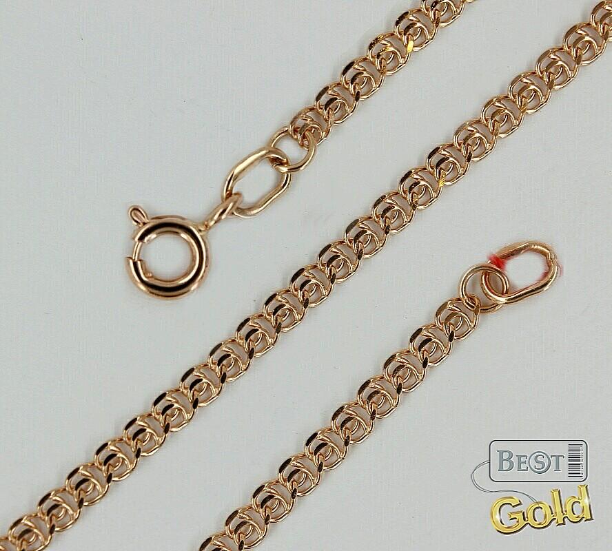 золотая цепочка плетение лав