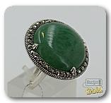 Женское серебряное кольцо с авантюрином