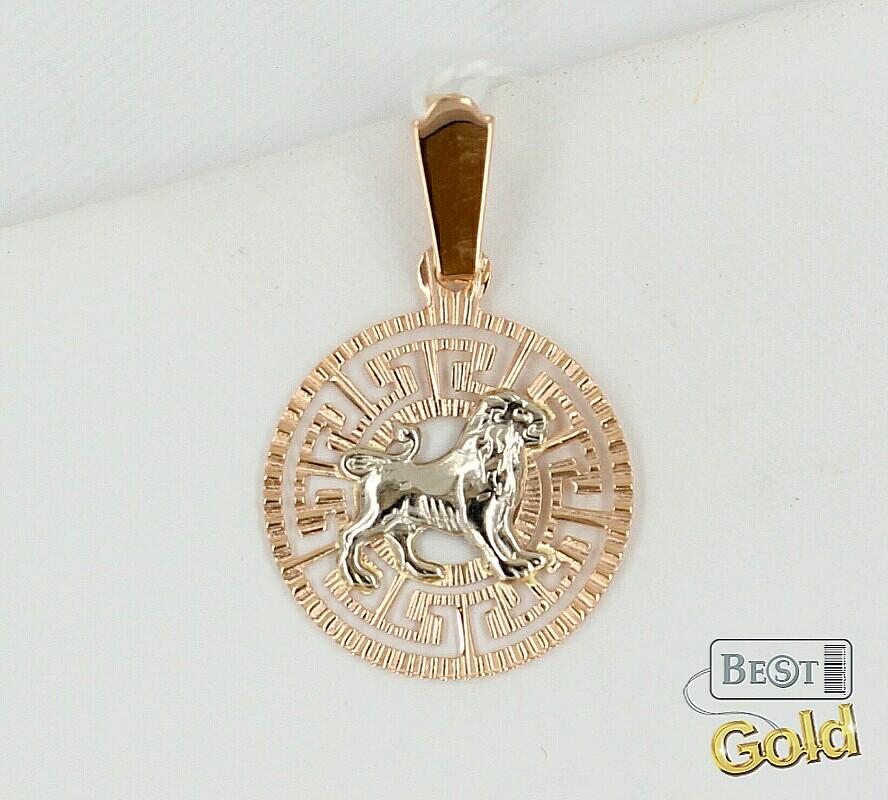 золотая подвеска со знаком зодиака цена