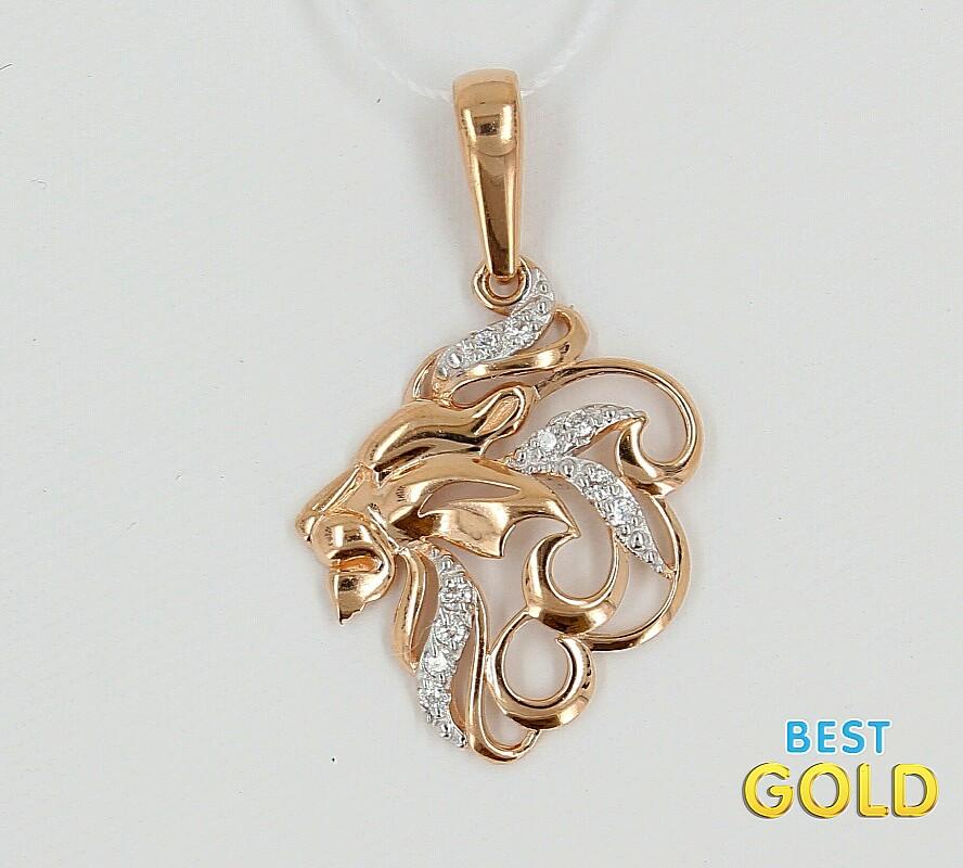зодиака знаком подвески золотые лев со