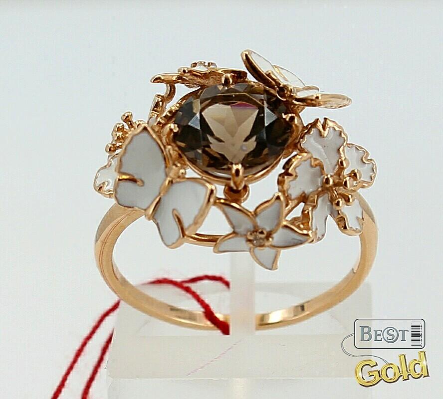 кольцо комбинированное золото