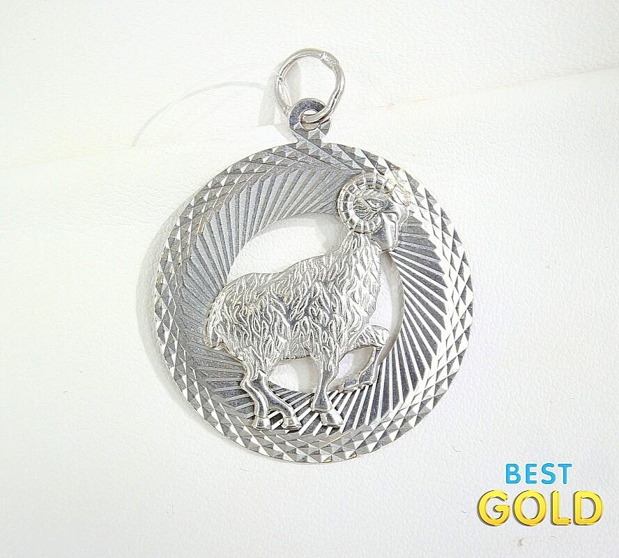 Серебряная подвеска SKAZKA с ювелирным стеклом артикул 08114
