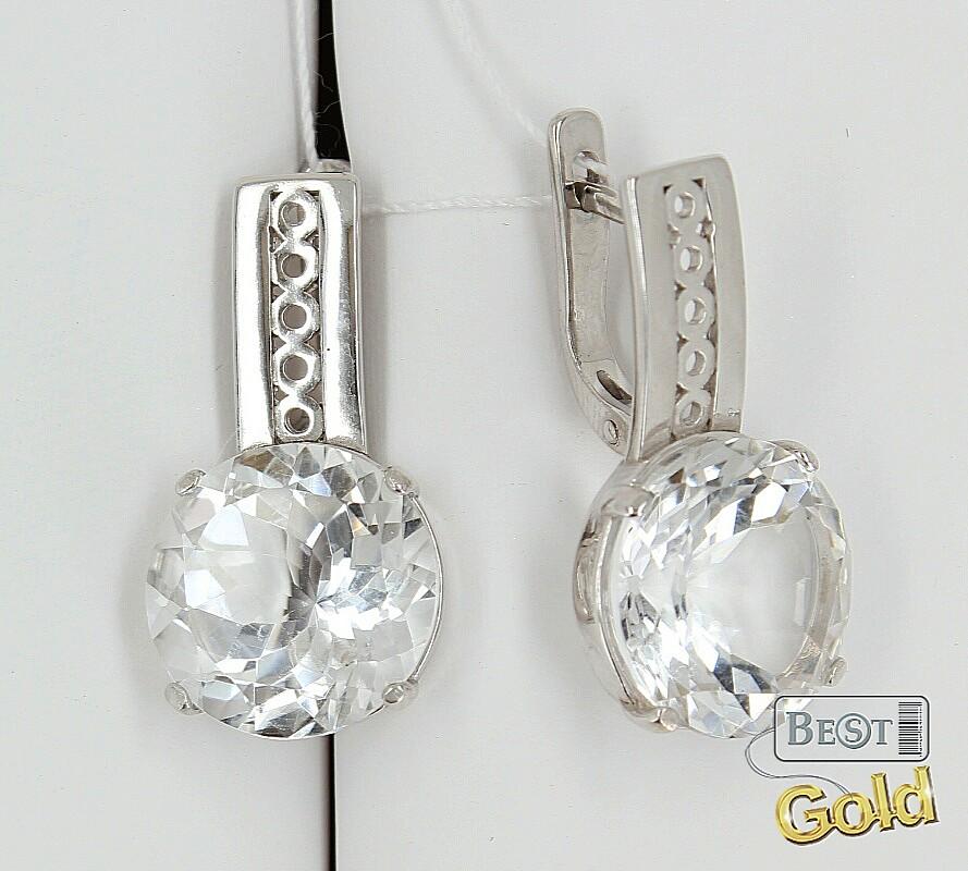 горный хрусталь в серебре серьги кольцо