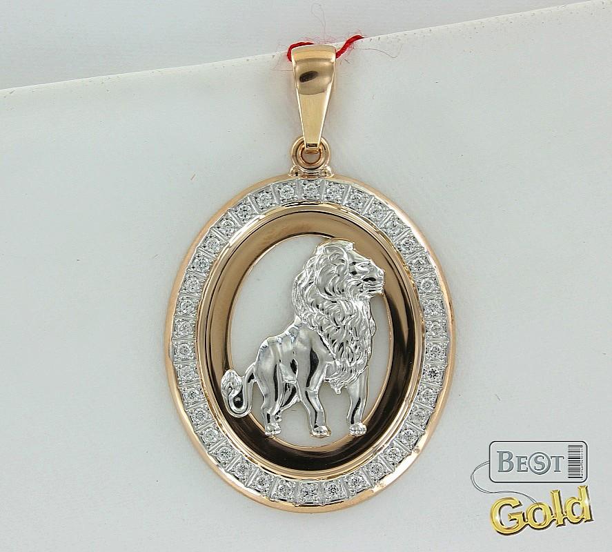 Золотые Подвески Со Знаком Зодиака Лев
