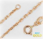 золотя цепочка с якорным плетением