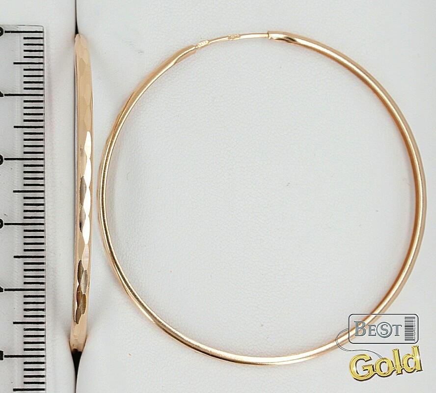 Сколько стоят золотые серьги кольцами