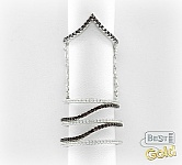 Серебряное фаланговое кольцо с цирконами