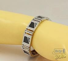 Серебряный браслет с ониксом