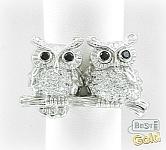 серебряное кольцо с совами